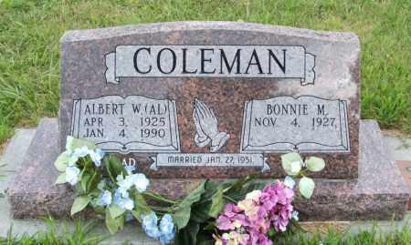 COLEMAN, ALBERT W. (AL) - Lincoln County, Nebraska | ALBERT W. (AL) COLEMAN - Nebraska Gravestone Photos