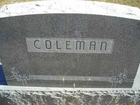 COLEMAN, FAMILY STONE - Lincoln County, Nebraska | FAMILY STONE COLEMAN - Nebraska Gravestone Photos