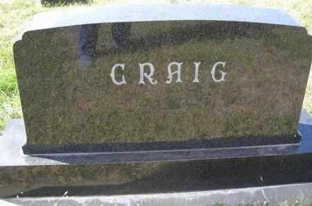 CRAIG, FAMILY STONE - Lincoln County, Nebraska | FAMILY STONE CRAIG - Nebraska Gravestone Photos