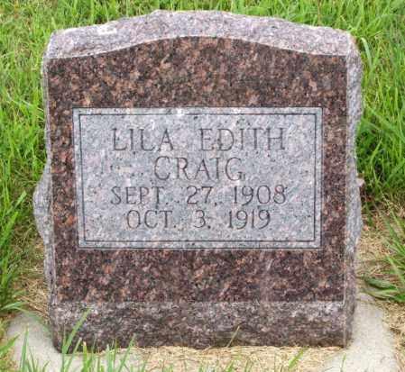 CRAIG, LILA EDITH - Lincoln County, Nebraska | LILA EDITH CRAIG - Nebraska Gravestone Photos