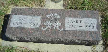 CRAIG, CARRIE G.J. - Lincoln County, Nebraska | CARRIE G.J. CRAIG - Nebraska Gravestone Photos