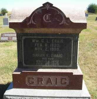 CRAIG, WM. G.L. - Lincoln County, Nebraska | WM. G.L. CRAIG - Nebraska Gravestone Photos
