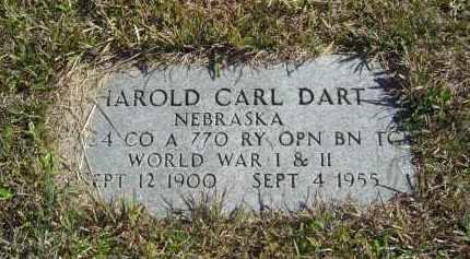 DART, HAROLD CARL; - Lincoln County, Nebraska   HAROLD CARL; DART - Nebraska Gravestone Photos