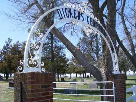 *DICKENS CEMETERY, ENTRANCE GATE VIEW - Lincoln County, Nebraska | ENTRANCE GATE VIEW *DICKENS CEMETERY - Nebraska Gravestone Photos