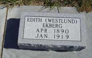 WESTLUND EKBERG, EDITH - Lincoln County, Nebraska | EDITH WESTLUND EKBERG - Nebraska Gravestone Photos
