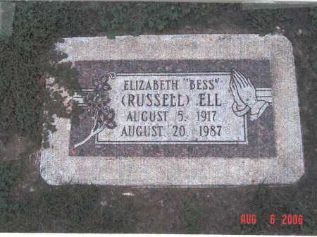 "RUSSELL ELL, ELIZABETH ""BESS"" - Lincoln County, Nebraska 