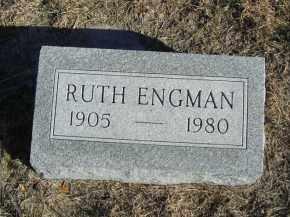 ENGMAN, RUTH - Lincoln County, Nebraska | RUTH ENGMAN - Nebraska Gravestone Photos