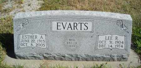 EVARTS, ESTHER A. - Lincoln County, Nebraska | ESTHER A. EVARTS - Nebraska Gravestone Photos