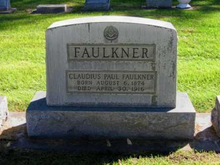 FAULKNER, CLAUDIUS PAUL - Lincoln County, Nebraska | CLAUDIUS PAUL FAULKNER - Nebraska Gravestone Photos