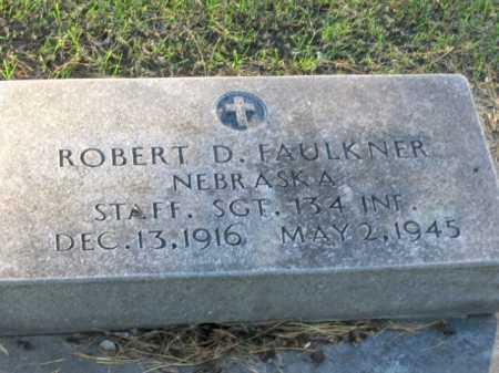 FAULKNER, ROBERT DANIEL, SR. - Lincoln County, Nebraska | ROBERT DANIEL, SR. FAULKNER - Nebraska Gravestone Photos