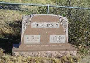 GEORGE FREDERIKSEN, JENNIE - Lincoln County, Nebraska | JENNIE GEORGE FREDERIKSEN - Nebraska Gravestone Photos