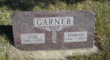 GARNER, EDMUND - Lincoln County, Nebraska | EDMUND GARNER - Nebraska Gravestone Photos
