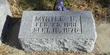 GARNER, MYRTLE B. - Lincoln County, Nebraska   MYRTLE B. GARNER - Nebraska Gravestone Photos