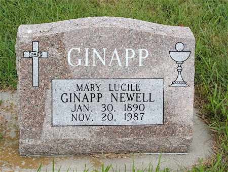 NEWELL GINAPP, MARY LUCILE - Lincoln County, Nebraska | MARY LUCILE NEWELL GINAPP - Nebraska Gravestone Photos