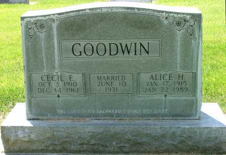 GOODWIN, ALICE - Lincoln County, Nebraska | ALICE GOODWIN - Nebraska Gravestone Photos