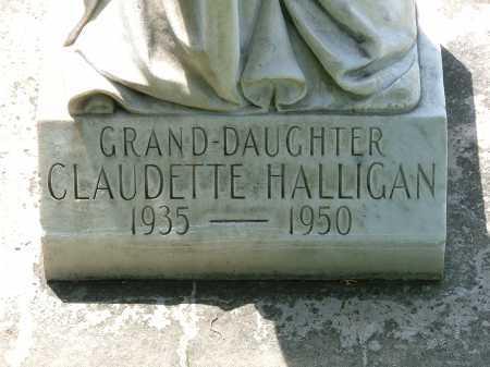 HALLIGAN, CLAUDETTE - Lincoln County, Nebraska   CLAUDETTE HALLIGAN - Nebraska Gravestone Photos