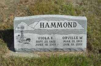 HAMMOND, VIOLA E. - Lincoln County, Nebraska | VIOLA E. HAMMOND - Nebraska Gravestone Photos
