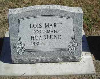 COLEMAN HOAGLUND, LOIS MARIE - Lincoln County, Nebraska | LOIS MARIE COLEMAN HOAGLUND - Nebraska Gravestone Photos