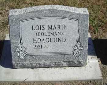 HOAGLUND, LOIS MARIE - Lincoln County, Nebraska | LOIS MARIE HOAGLUND - Nebraska Gravestone Photos