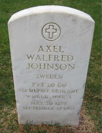 JOHNSON, AXEL WALFRED - Lincoln County, Nebraska | AXEL WALFRED JOHNSON - Nebraska Gravestone Photos