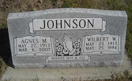JOHNSON, AGNES M. - Lincoln County, Nebraska | AGNES M. JOHNSON - Nebraska Gravestone Photos