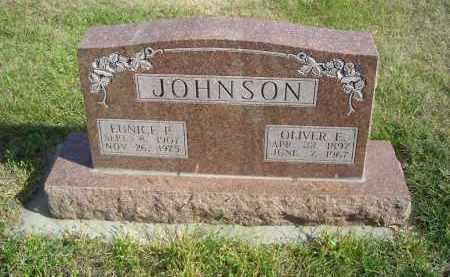 JOHNSON, OLIVER E. - Lincoln County, Nebraska   OLIVER E. JOHNSON - Nebraska Gravestone Photos