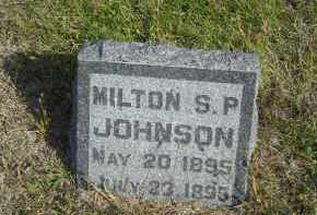 JOHNSON, MILTON S.P. - Lincoln County, Nebraska | MILTON S.P. JOHNSON - Nebraska Gravestone Photos