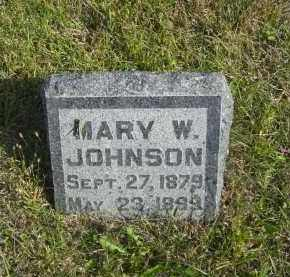 JOHNSON, MARY W. - Lincoln County, Nebraska | MARY W. JOHNSON - Nebraska Gravestone Photos