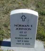 JOHNSON, NORMAN E. - Lincoln County, Nebraska   NORMAN E. JOHNSON - Nebraska Gravestone Photos