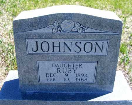 JOHNSON, RUBY - Lincoln County, Nebraska   RUBY JOHNSON - Nebraska Gravestone Photos