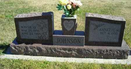 JOHNSON, WAYNE  O - Lincoln County, Nebraska | WAYNE  O JOHNSON - Nebraska Gravestone Photos
