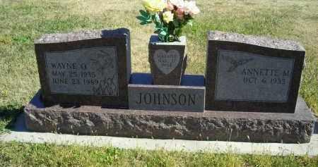 JOHNSON, WAYNE  O - Lincoln County, Nebraska | WAYNE  O JOHNSON - Nebraska Gravestone Photos
