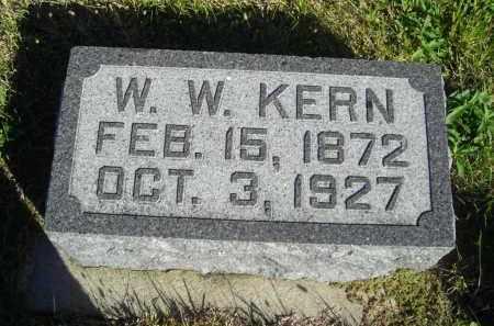 KERN, W.W. - Lincoln County, Nebraska | W.W. KERN - Nebraska Gravestone Photos