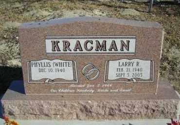 WHITE KRACMAN, PHYLLIS - Lincoln County, Nebraska | PHYLLIS WHITE KRACMAN - Nebraska Gravestone Photos