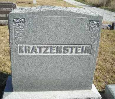 KRATZENSTEIN, FAMILY STONE - Lincoln County, Nebraska | FAMILY STONE KRATZENSTEIN - Nebraska Gravestone Photos