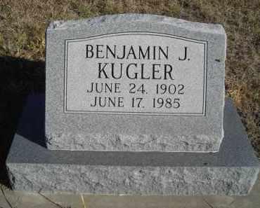 KUGLER, BENJAMIN J. - Lincoln County, Nebraska | BENJAMIN J. KUGLER - Nebraska Gravestone Photos