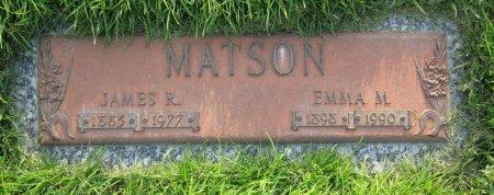 MATSON, JAMES R - Lincoln County, Nebraska | JAMES R MATSON - Nebraska Gravestone Photos