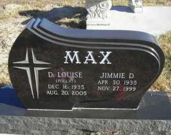 POLLAT MAX, D.LOUISE - Lincoln County, Nebraska | D.LOUISE POLLAT MAX - Nebraska Gravestone Photos