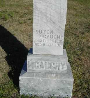 MCAUGHY, NUTON - Lincoln County, Nebraska | NUTON MCAUGHY - Nebraska Gravestone Photos