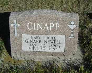 GINAPP NEWELL, MARY LUCILE - Lincoln County, Nebraska | MARY LUCILE GINAPP NEWELL - Nebraska Gravestone Photos