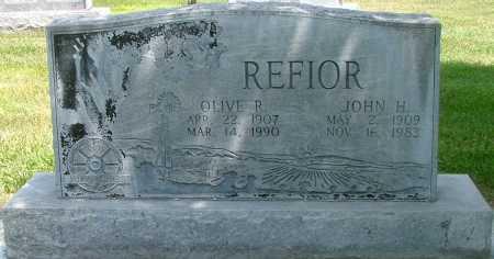 RASMUSSEN REFIOR, OLIVE - Lincoln County, Nebraska | OLIVE RASMUSSEN REFIOR - Nebraska Gravestone Photos