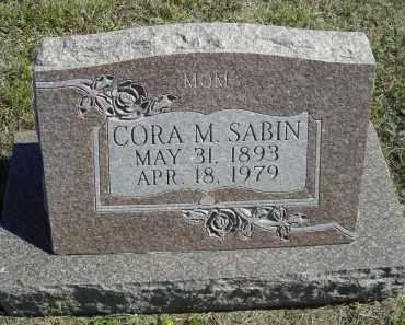SABIN, CORA M. - Lincoln County, Nebraska | CORA M. SABIN - Nebraska Gravestone Photos