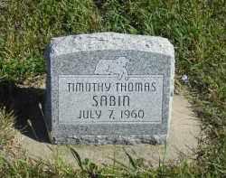 SABIN, TIMOTHY THOMAS - Lincoln County, Nebraska | TIMOTHY THOMAS SABIN - Nebraska Gravestone Photos