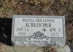 SCHLEICHER, HILDEGARD FANNIE - Lincoln County, Nebraska | HILDEGARD FANNIE SCHLEICHER - Nebraska Gravestone Photos