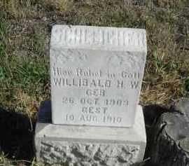 SCHLEICHER, WILLIBALD H.W. - Lincoln County, Nebraska | WILLIBALD H.W. SCHLEICHER - Nebraska Gravestone Photos