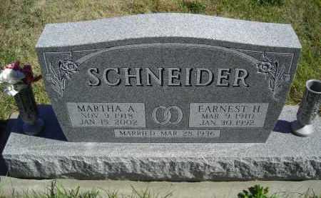 SCHNEIDER, MARTHA A. - Lincoln County, Nebraska | MARTHA A. SCHNEIDER - Nebraska Gravestone Photos