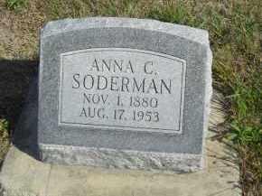 SODERMAN, ANNA C - Lincoln County, Nebraska | ANNA C SODERMAN - Nebraska Gravestone Photos