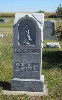 SPRINGER, FLORENCE J. HEMPSTED - Lincoln County, Nebraska | FLORENCE J. HEMPSTED SPRINGER - Nebraska Gravestone Photos