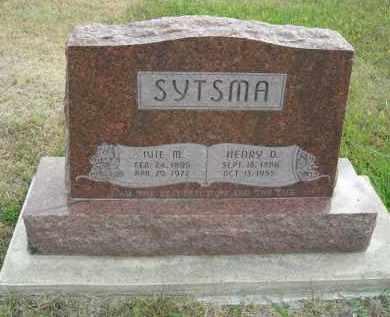 SYTSMA, HENRY D. - Lincoln County, Nebraska | HENRY D. SYTSMA - Nebraska Gravestone Photos