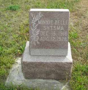 SYTSMA, MINNIE BELLE - Lincoln County, Nebraska | MINNIE BELLE SYTSMA - Nebraska Gravestone Photos